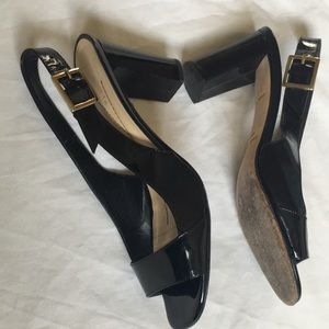 Kate Spade Italy made slingback black heels 8